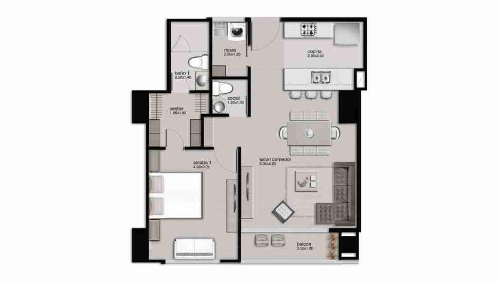 Apartamento 67.02 m2