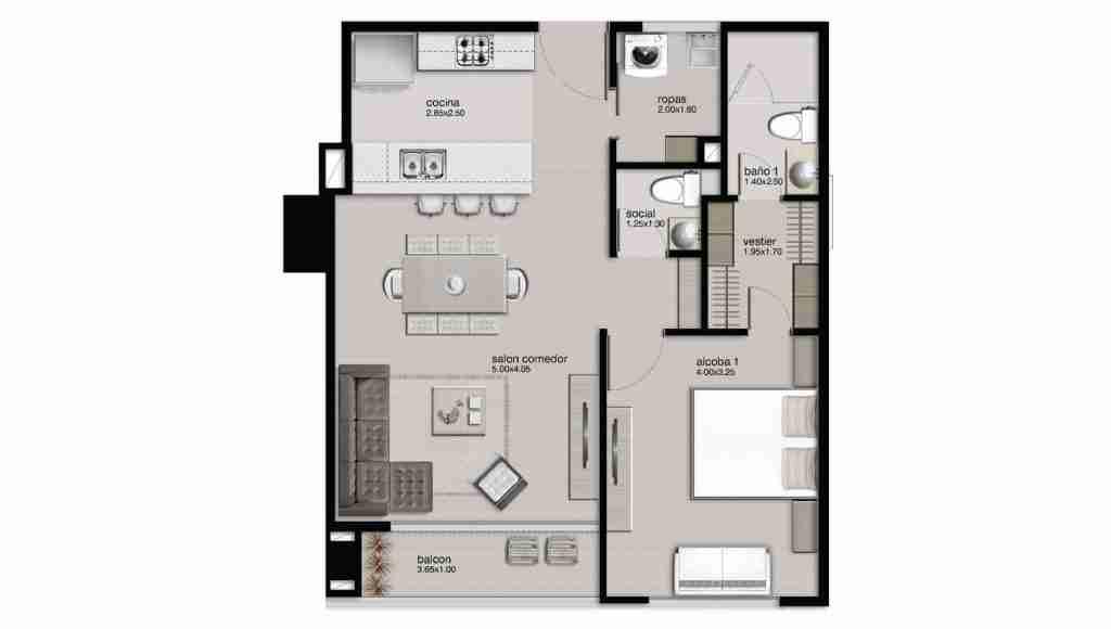 Apartamento 67.05 m2