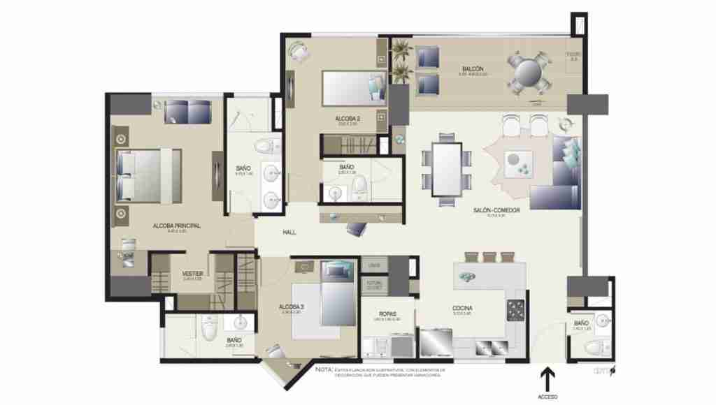 Apartamento 123 m2
