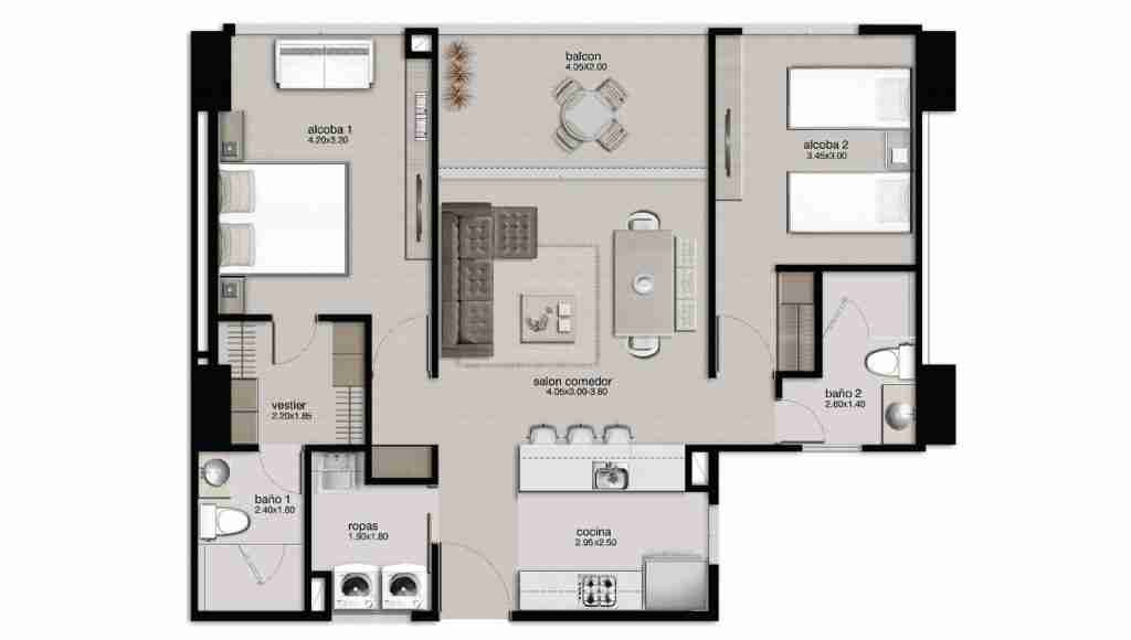 Apartamento 87.81 m2