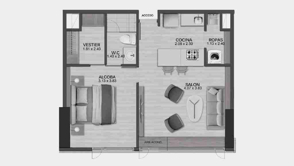 Apartamento 50.20 m2