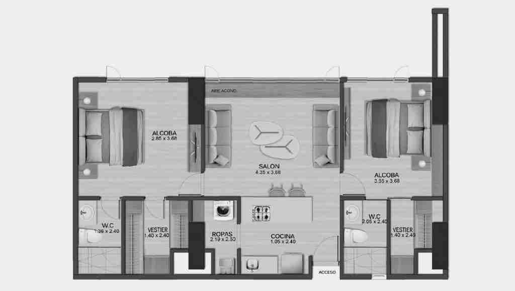 Apartamento 76.45 m2